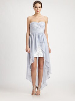 Aidan Mattox - Chiffon Overlay Sequined Dress