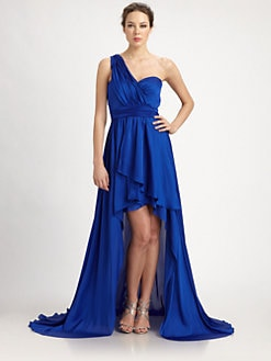 Aidan Mattox - One-Shoulder Charmeuse Gown
