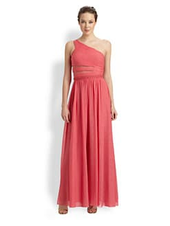 Aidan Mattox - One-Shoulder Chiffon Gown