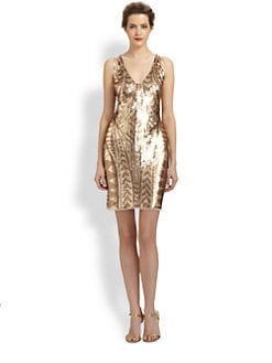 Aidan Mattox - Tribal Sequin-Patterned Dress