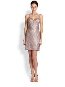 Aidan Mattox - Beaded Brocade Dress