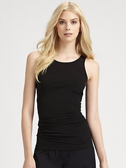 Saks Fifth Avenue Collection - Sleevess Ruched Tank Top