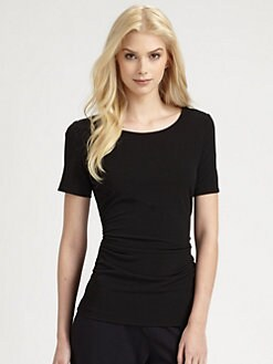 Saks Fifth Avenue Collection - Short-Sleeve Ruched Top