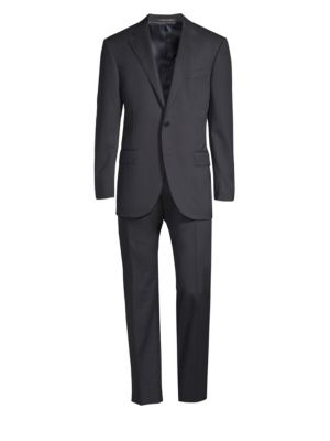 Regular-Fit Solid Woven Wool Suit