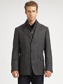 Corneliani - Mini Check Tweed Jacket