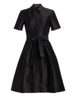Mikado Satin Shirtdress