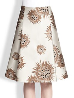 Carolina Herrera - Jacquard Flower Urchin Skirt