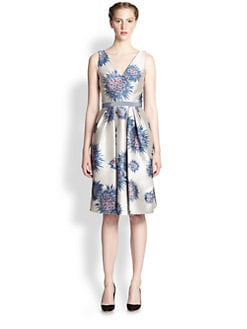 Carolina Herrera - Jacquard Flower Urchin Dress
