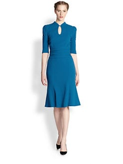 Carolina Herrera - Wool Crepe Keyhole Dress