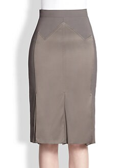 Carolina Herrera - Silk Detail Godet Skirt
