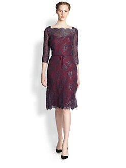 Carolina Herrera - Scalloped Lace Dress