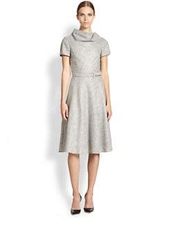 Carolina Herrera - Belted Melange Dress