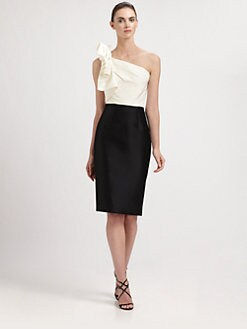Carolina Herrera - One-Shoulder Cocktail Dress