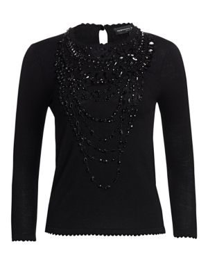 Icon Collection Wool Embellished Top