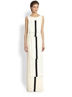 Carolina Herrera - Tiered Silk Stripe Gown