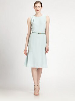 Carolina Herrera - Belted Crepe Dress