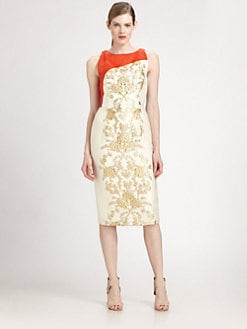 Carolina Herrera - Baroque Lamé Jacquard Dress
