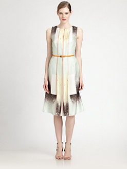 Carolina Herrera - Belted Silk Dress
