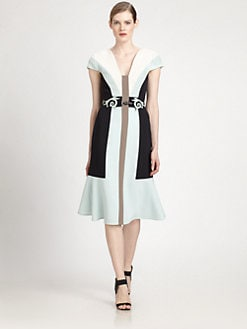 Carolina Herrera - Crepe Coloblock Dress