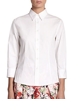 Carolina Herrera - Cotton Poplin Blouse