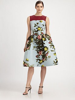 Carolina Herrera - Rose-Print Dress