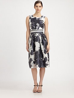 Carolina Herrera - Floral Jacquard Dress