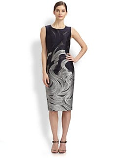 Carolina Herrera - Wave-Patterned Jacquard Dress