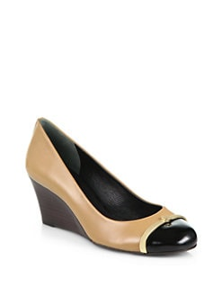 Tory Burch - Pacey Leather Wedge Pumps