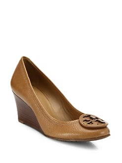 Tory Burch - Sally Leather Wedge Pumps