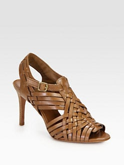 Tory Burch - Nadia Woven Leather Sandals