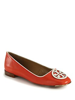 Tory Burch - Claudia Leather Ballet Flats