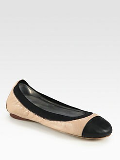 Tory Burch - Carrie Leather Ballet Flats