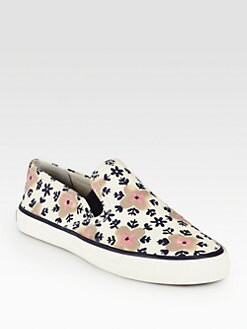 Tory Burch - Miles Floral-Print Canvas Sneakers