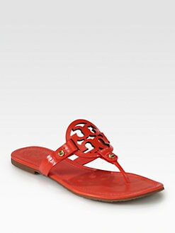 Tory Burch - Miller Patent Leather Thong Sandals