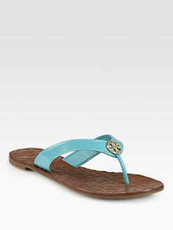 Tory Burch - Thora Patent Leather Thong Sandals