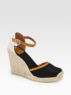 Tory Burch - Jordan Canvas Espadrille Wedges