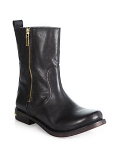 Tory Burch - Elyse Leather Mid-Calf Boots
