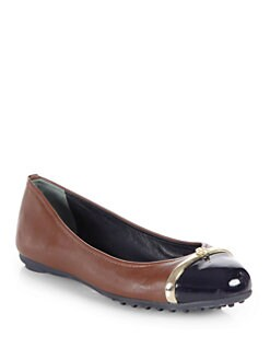 Tory Burch - Pacey Leather Ballet Drivers