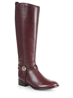 Tory Burch - Bristol Leather Knee-High Riding Boots
