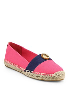 Tory Burch - Beacher Canvas Espadrille Flats