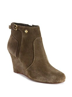 Tory Burch - Milan Suede Wedge Ankle Boots