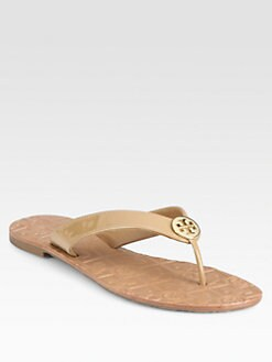 Tory Burch - Thora Patent Leather Flip Flops
