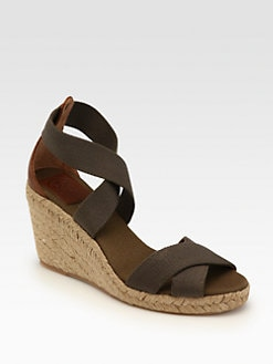 Tory Burch - Adonis Canvas Espadrille Wedges