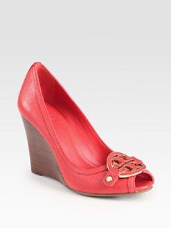 Tory Burch - Amanda Leather Wedge Pumps