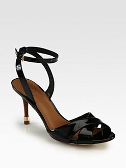 Tory Burch - Tania Patent Leather Ankle Strap Sandals
