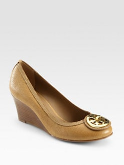 Tory Burch - Selma Leather Wedge Pumps