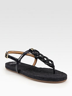 Tory Burch - Altha Patent Leather Thong Sandals