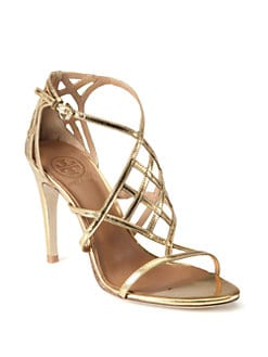 Tory Burch - Amalie Mirror Leather Sandals