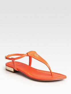 Tory Burch - Britton Leather Thong Sandals