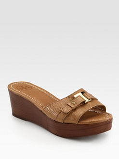 Tory Burch - Casey Leather Wedge Slides